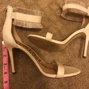 Sam Edelman Cream Stiletto Sandals